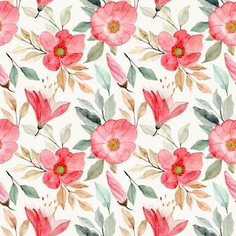 Modello senza cuciture dell'acquerello del fiore rosa del fiore