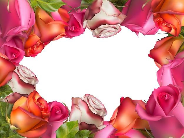 Sfondo rosa fiori freschi di primavera.