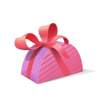 Confezione regalo rosa con fiocco, confezione regalo