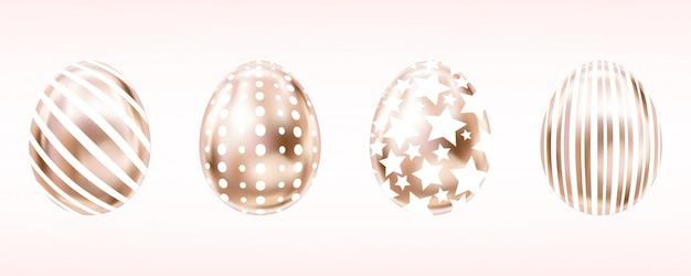 Uova rosa occhiata con striscia bianca