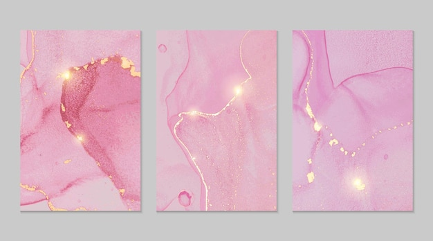 Trame astratte in marmo rosa e oro