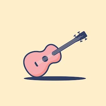 Illustrazione del fumetto della chitarra rosa