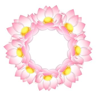 Corona di loto indiana rosa