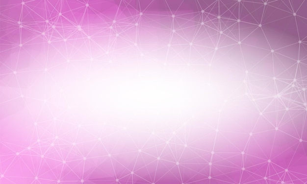 Sfondo rosa basso poli. modello di progettazione poligonale. mosaico luminoso moderno design geometrico, modelli di design creativo. linee collegate con punti.