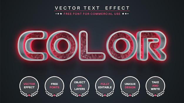 Stile del carattere dell'effetto di modifica del testo in metallo rosa