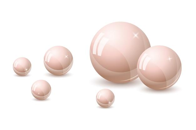 Sfondo di perle rosa