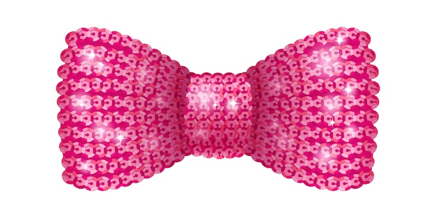 Papillon di paillettes rosa.