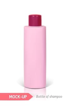 Piccola bottiglia rosa di shampoo illustrazione