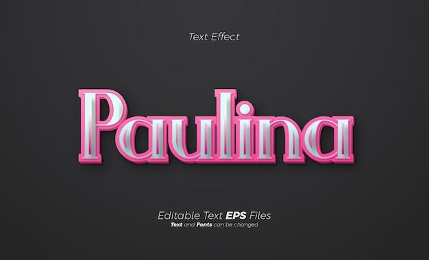 Effetto testo rosa 3d su sfondo nero