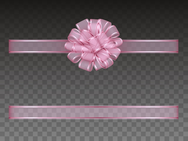 Nastro e fiocco trasparente rosa