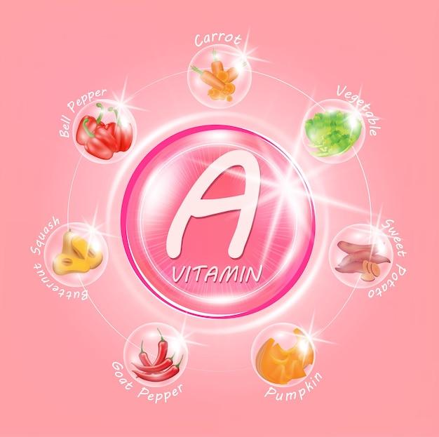Capsula medicinale rosa vitamina a medicine