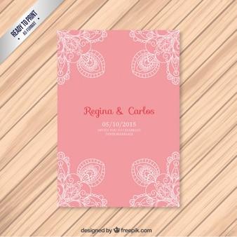 Carta diserbo rosa con ornamenti