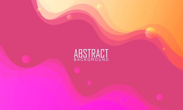 Sfondo di forma d'onda trasparente sfumato rosa e giallo. sfondo astratto. illustrazione vettoriale.