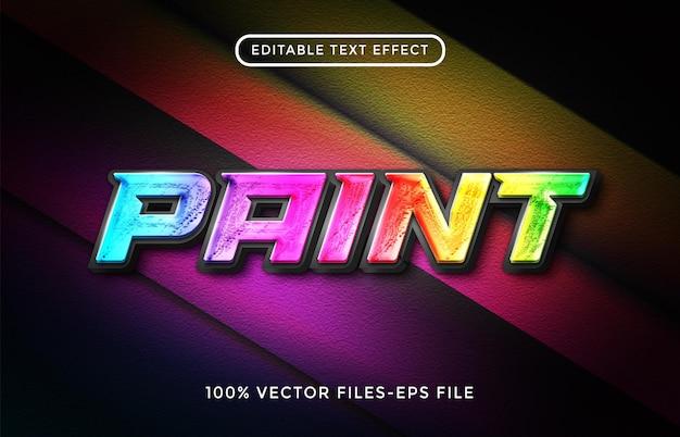 Vettori premium di effetto testo modificabile pinta