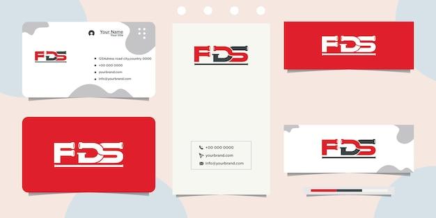 Progettazione del logo del servizio di tubi, industria dei tubi e biglietto da visita
