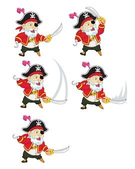 Sprite di animazione del gioco dei cartoni animati dei pirati