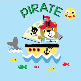 Arte vettoriale dei cartoni animati dei pirati