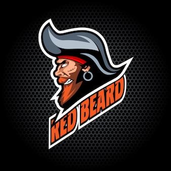 Testa di pirata dal lato. può essere utilizzato per il logo del club o della squadra.