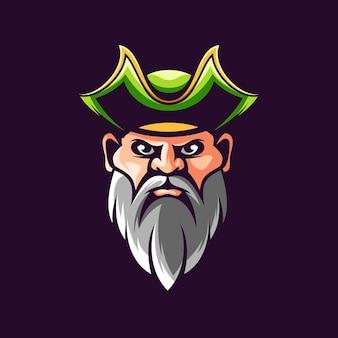 Disegno dell'illustrazione della barba dei pirati