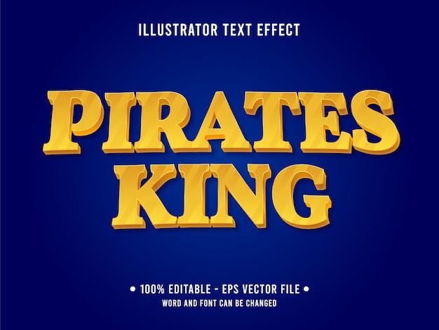 Modello di effetto testo modificabile re dei pirati