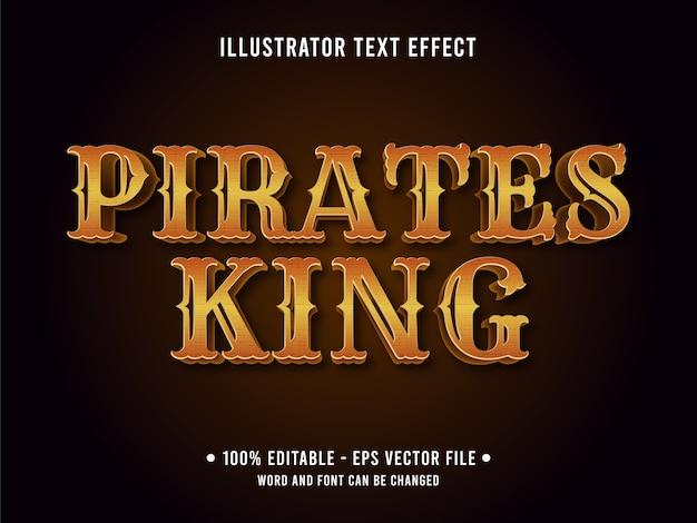 Effetto di testo modificabile re dei pirati
