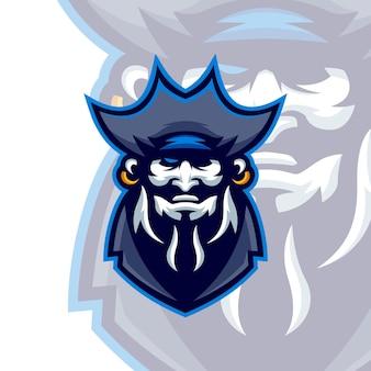 Modelli di logo della mascotte dei pirati