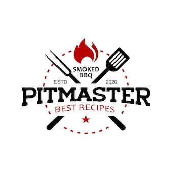 Grafica vettoriale di pitmaster barbecue logo timbro