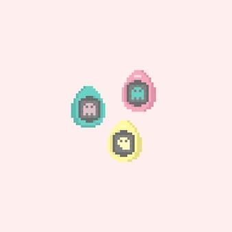 Pixel 8bit gioco di uova