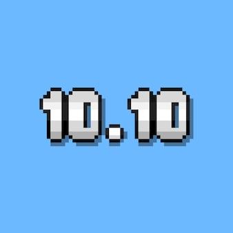 Pixel art 1010 numero testo design