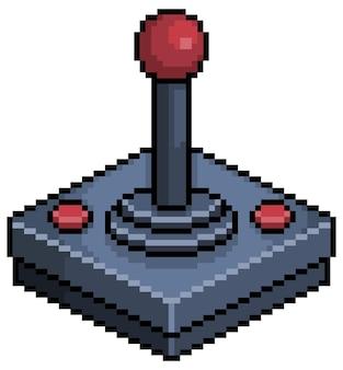 Icona del joystick pixel art per il gioco a 8 bit su sfondo bianco