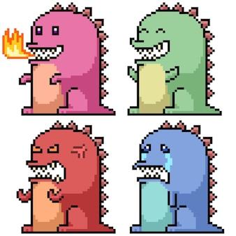 Pixel art dell'emozione del mostro