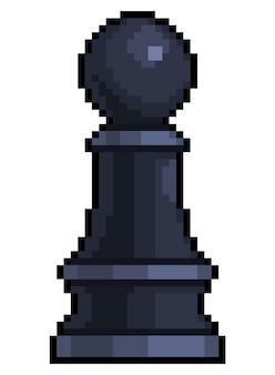 Pixel art pawn pezzo degli scacchi per il gioco a 8 bit su sfondo bianco