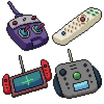 Pixel art set isolato telecomando