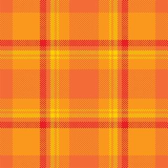 Disegno vettoriale di sfondo pixel. plaid moderno senza cuciture. tessuto a trama quadrata. tessuto scozzese scozzese. ornamento di madras di colore di bellezza.