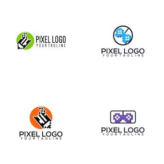 Collezione pixel logo
