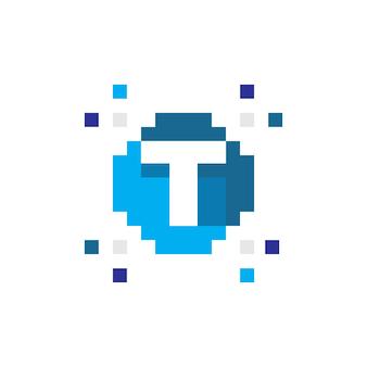 Pixel logo technology logo t icona iniziale