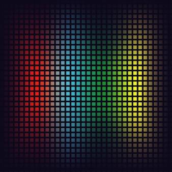 Priorità bassa del mosaico di pixel. quadrati rossi, blu, verdi e gialli. sfondo digitale. illustrazione vettoriale.