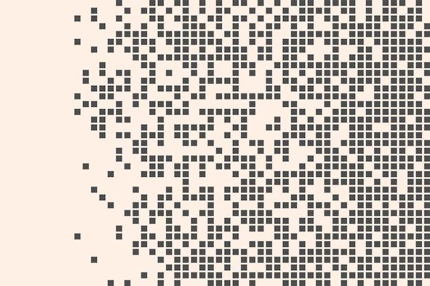 Mosaico di pixel illustrazione di decadimento dei pixel pixel in caduta sfondo astratto