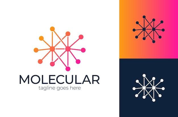 Concetto di logo di tecnologia pixel, simbolo di logo di rete internet