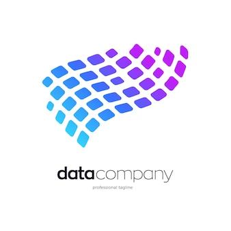 Design del logo dell'onda pixel