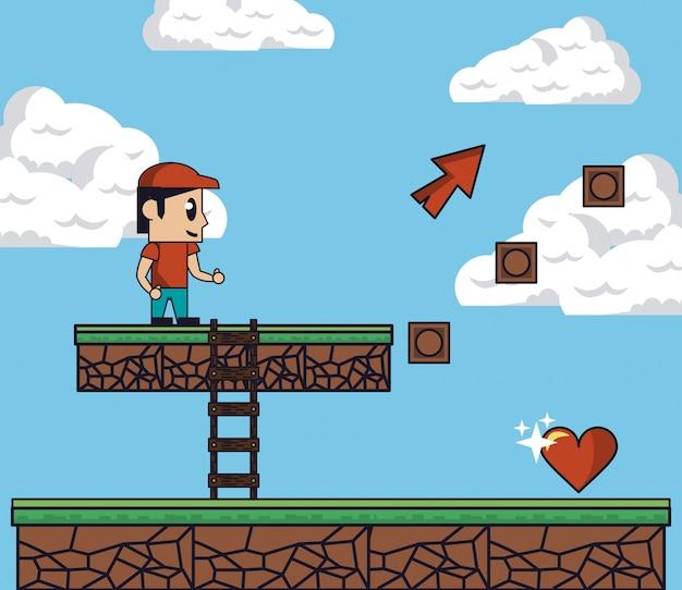 Scenario di gioco pixelated