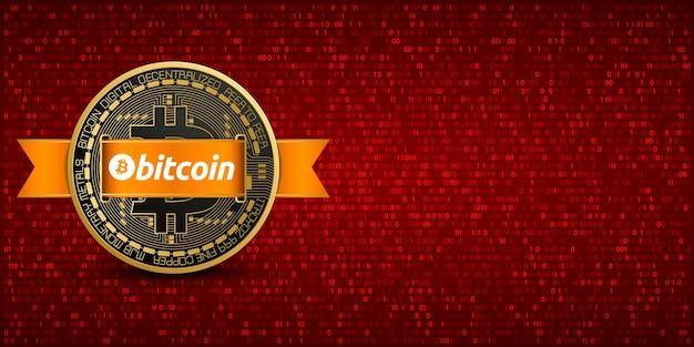 Sfondo rosso pixelato bitcoin