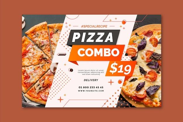 Modello di banner pizza
