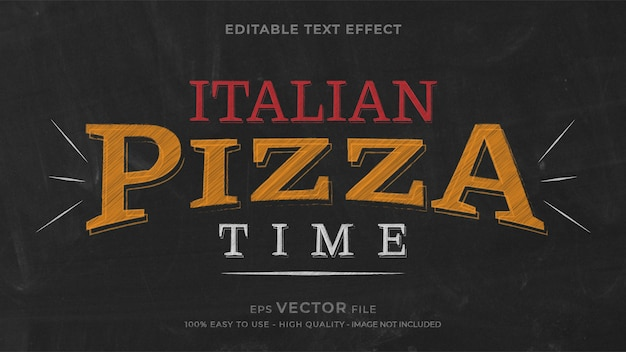 Effetto di testo modificabile con gesso per pizza