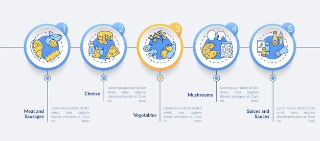 Modello di infografica costruttore di pizza
