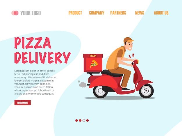 Pagina di destinazione della consegna della pizza