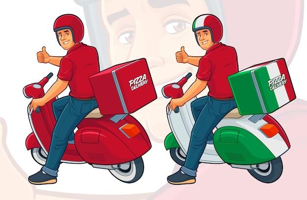 Pizza delivery rider