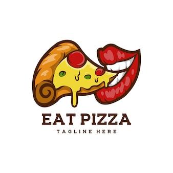 La pizza mangia cibo delizioso pranzo a pranzo?