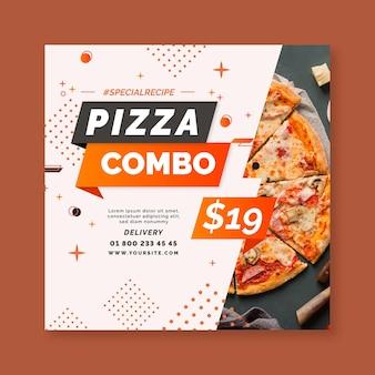Modello di volantino per pizza