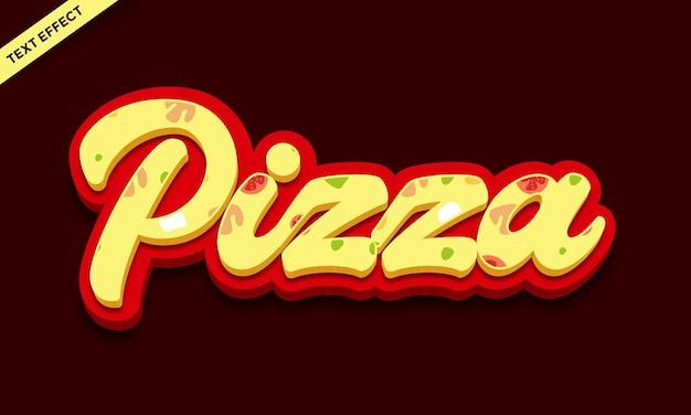 Design effetto testo pizza cibo